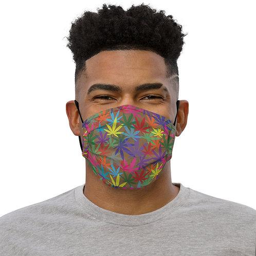 90 to Zambo Marijuana Print Premium face mask
