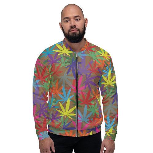 90 to Zambo Marijuana Print Unisex Bomber Jacket