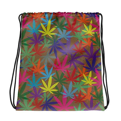 90 to Zambo Marijuana Print Drawstring bag