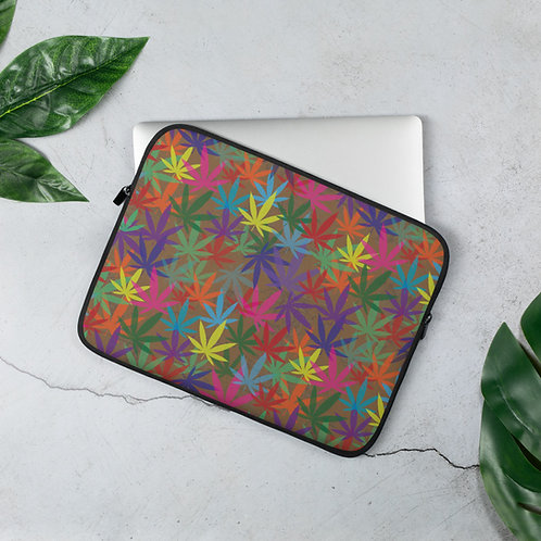 90 to Zambo Marijuana Print Laptop Sleeve