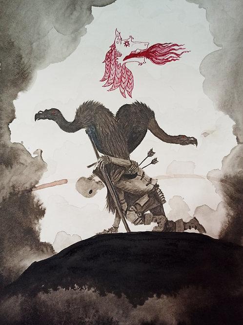 Ye risen from the vulture's beak, thou shalt never perish