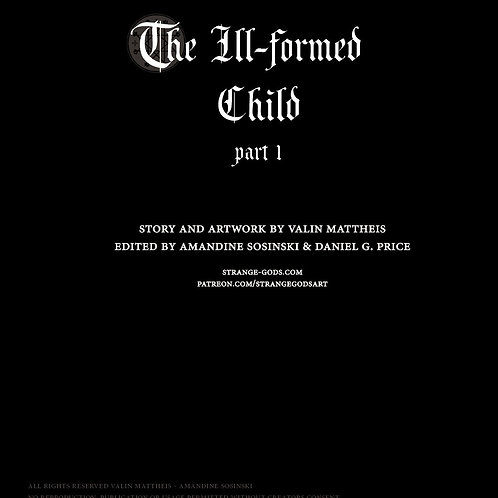 Illustrated digital story - The Ill-Formed Child, part1