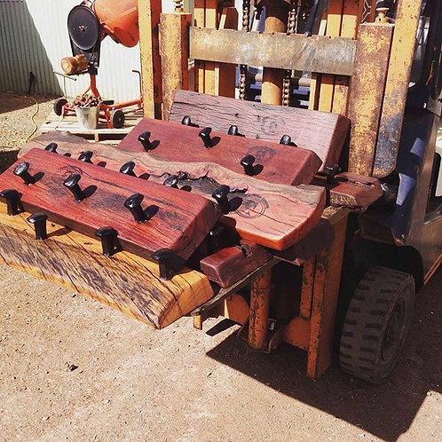 Rail Dog Spike Coat Racks