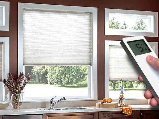 Convenience of motorized shades