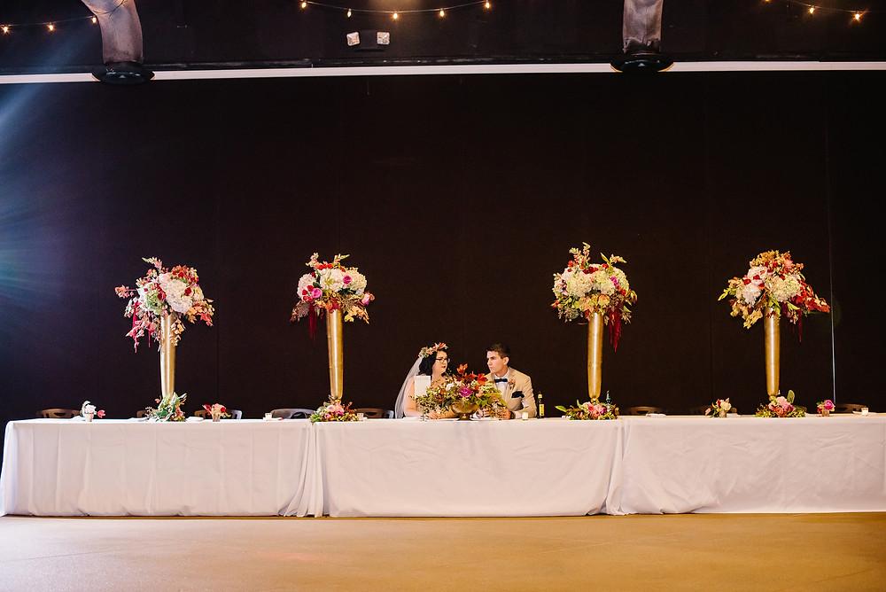 head table flowers al planner