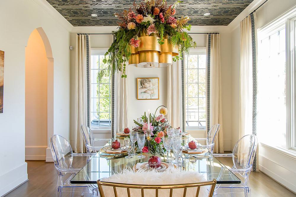 dining table flowers