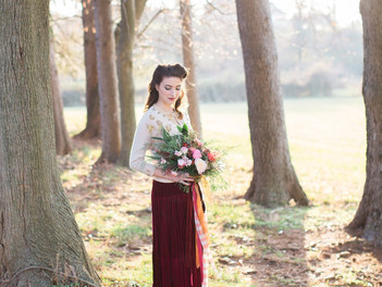 Alabama meets Virginia- A Christmas elopement editorial at Hope Flower Farm