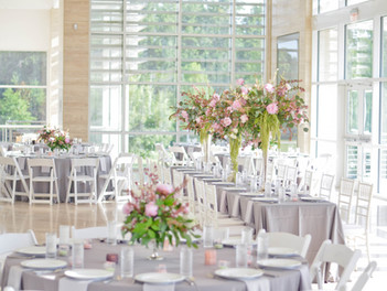 Pretty Pink floral wedding day at Auburn's Art museum- Heather Durham photography