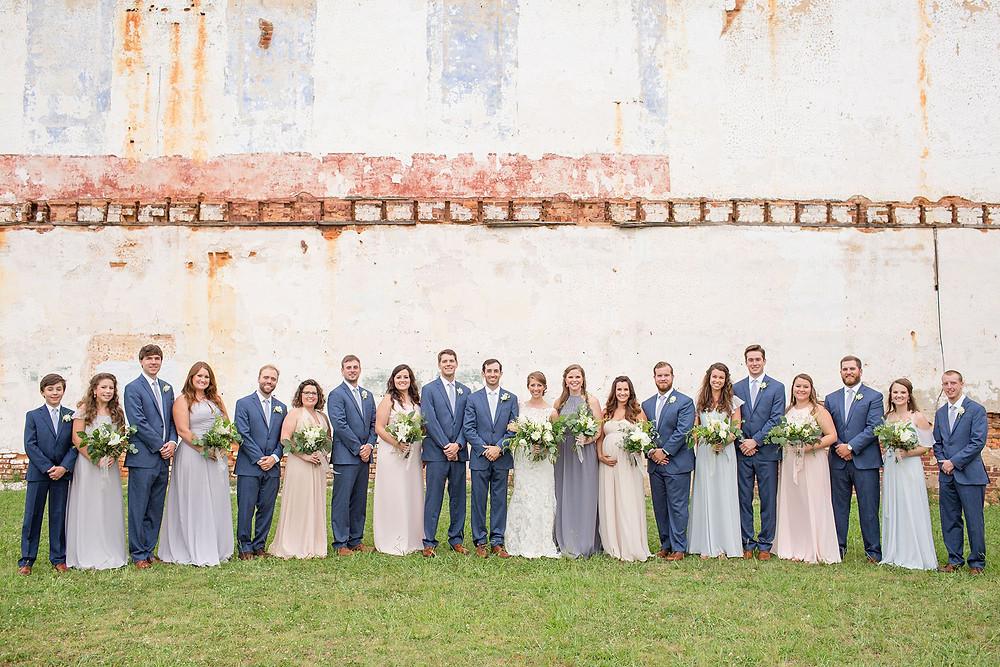 southern wedding party, flowers, alabama