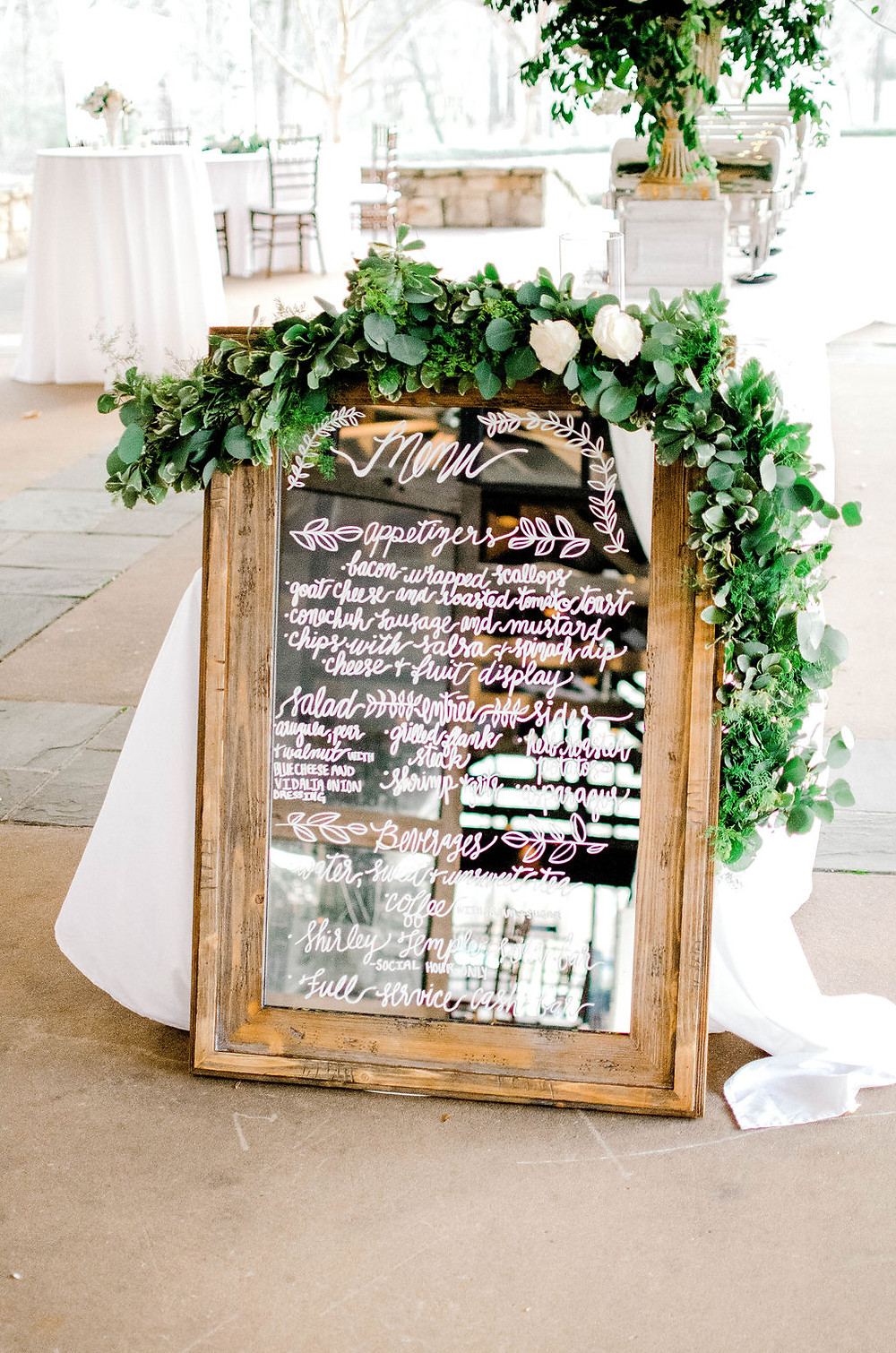 Auburn wedding venue menu