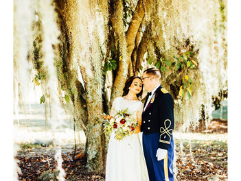 Gorgeous military wedding at Fort Benning, Georgia with Sophia and Blake