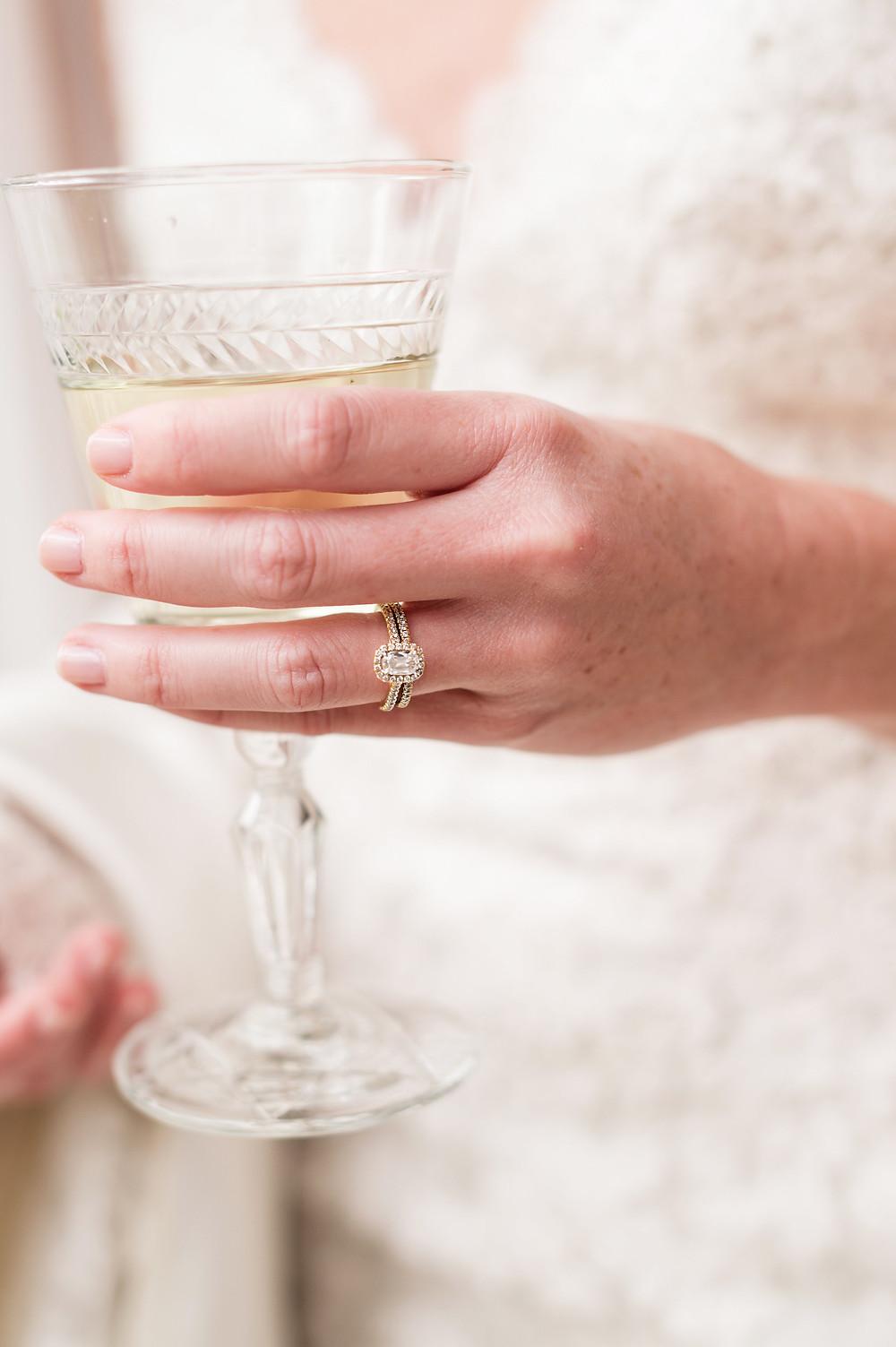 wine glass bride