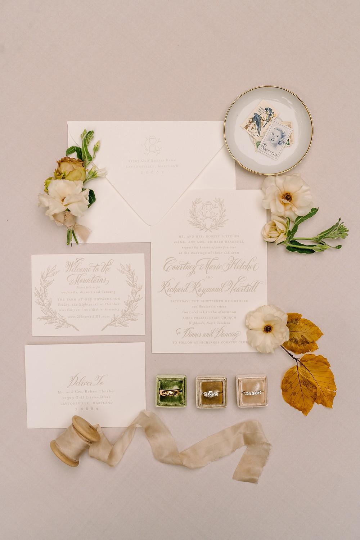 wedding invitation highlands nc