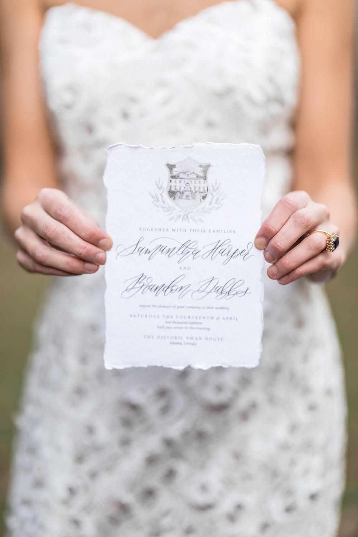 wedding invitation bride