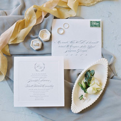 Auburn al wedding invitation