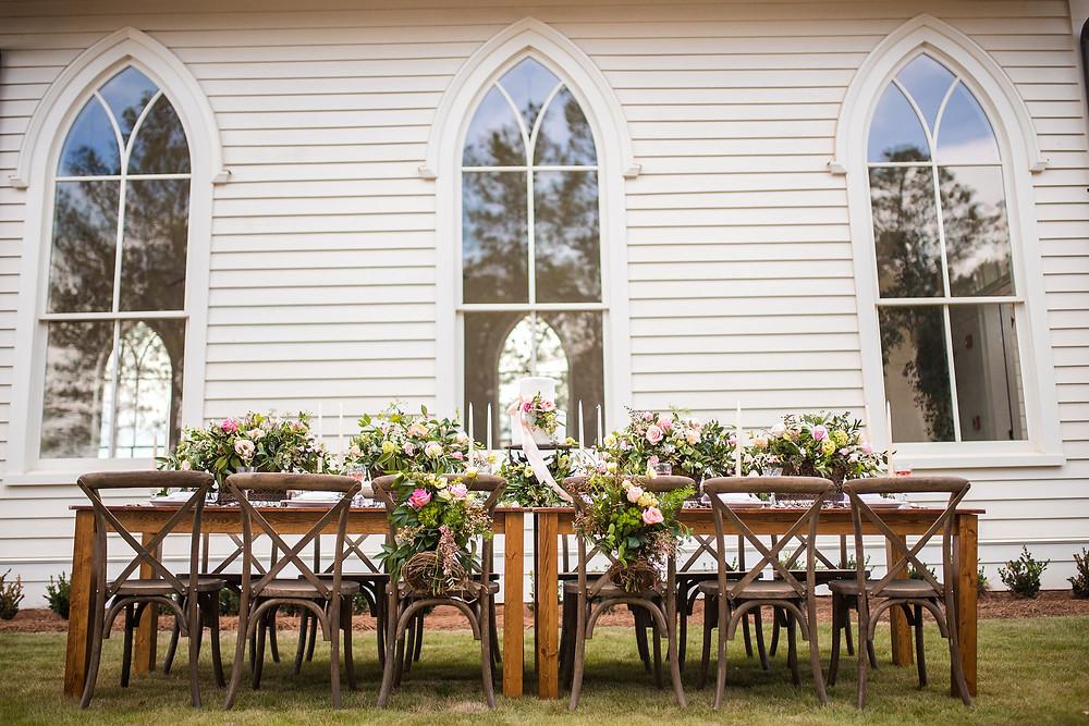 ga wedding planner table