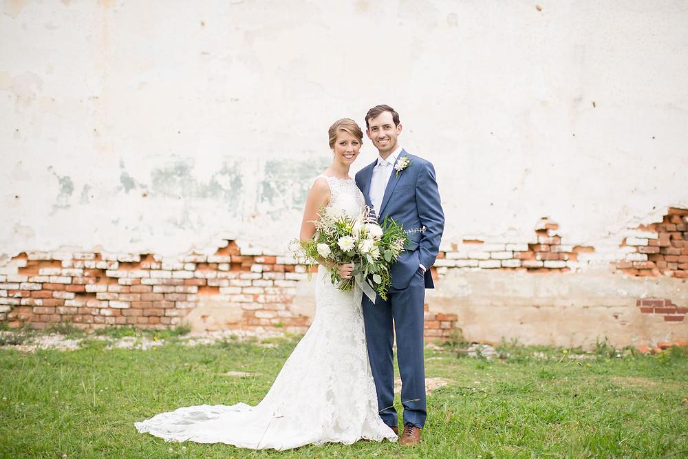 alabama bride and groom, flowers, wedding day