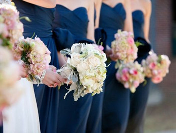 an Auburn  War Eagle Wedding with a pink floral accent