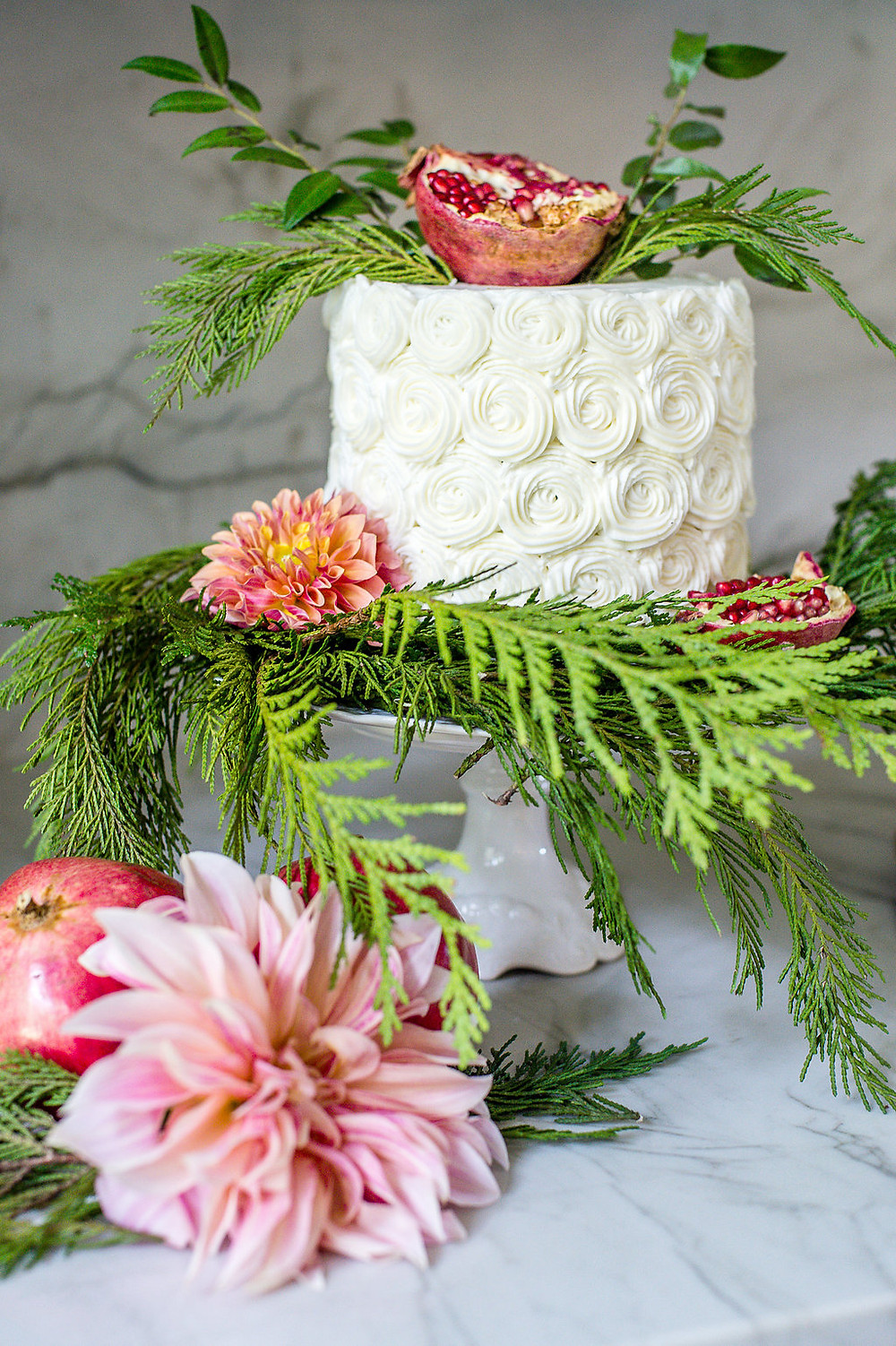 holiday cake  flowers