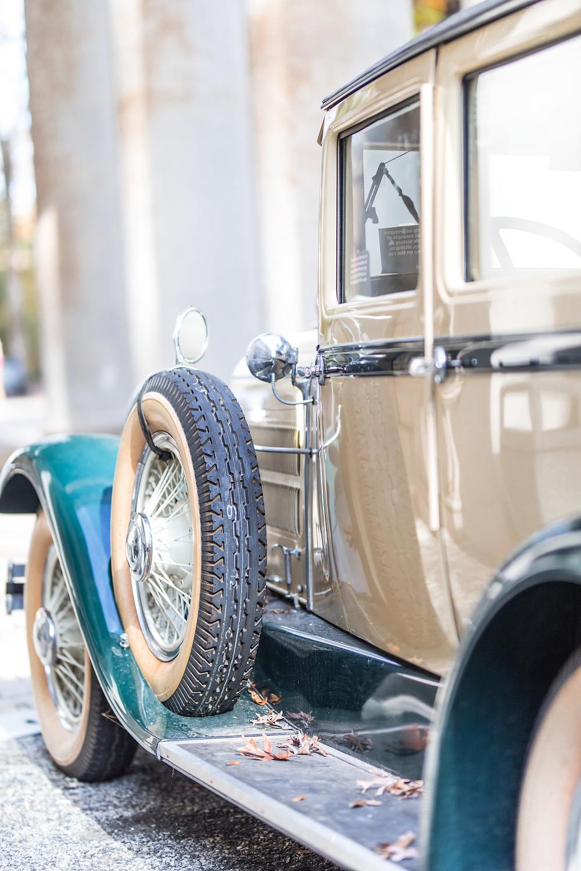 vintage car wedding venue