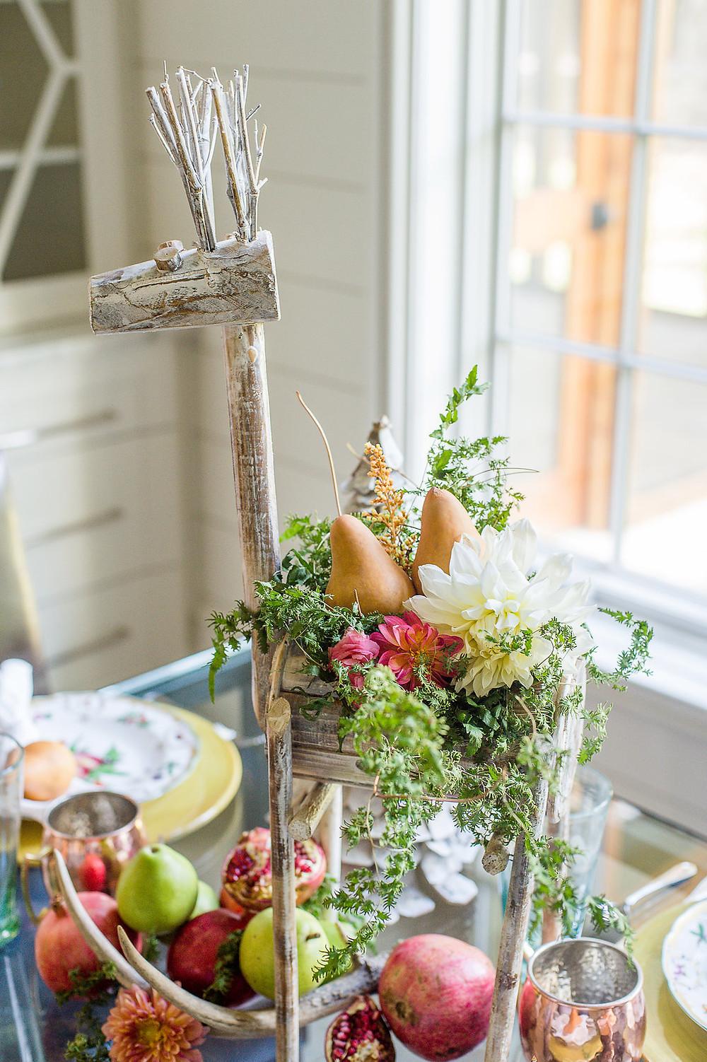 floral fruit table centerpiece