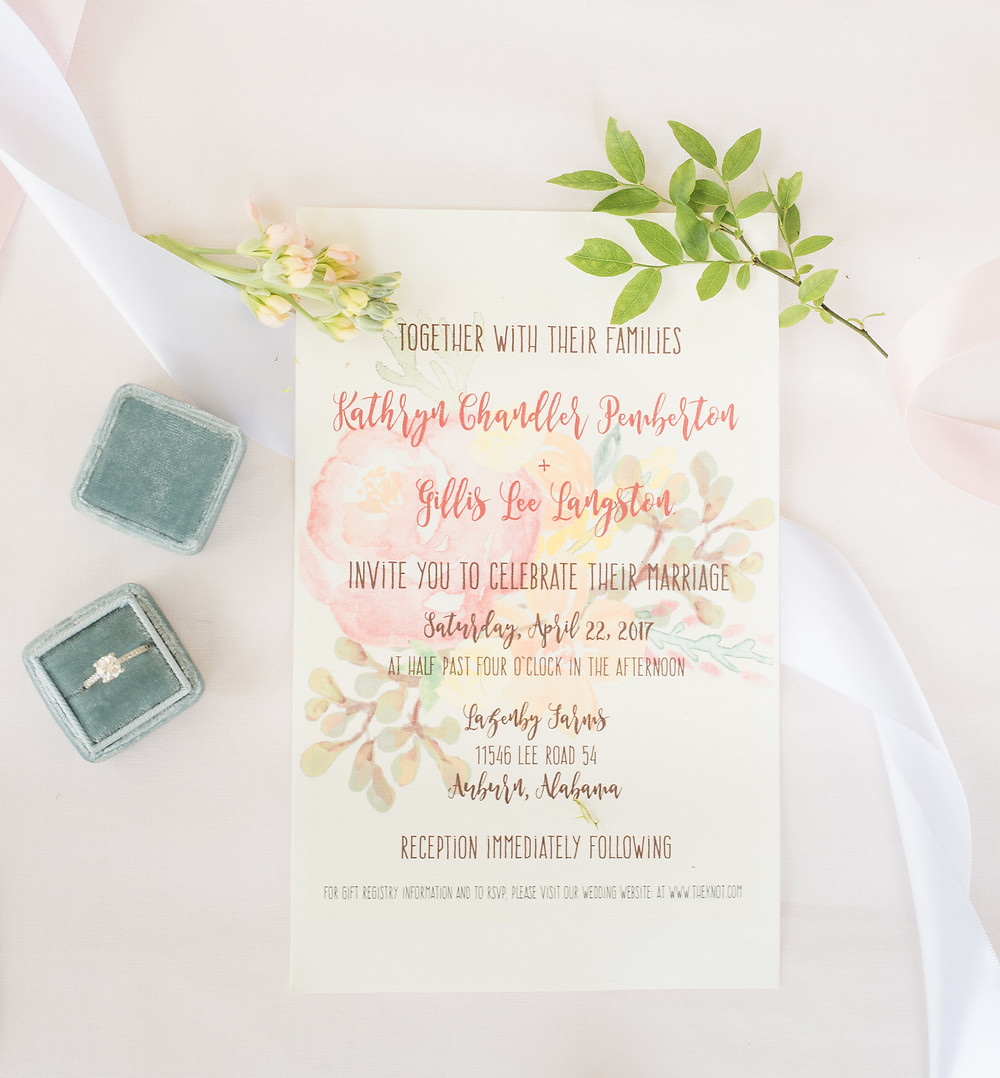 wedding planner invitation design flowers