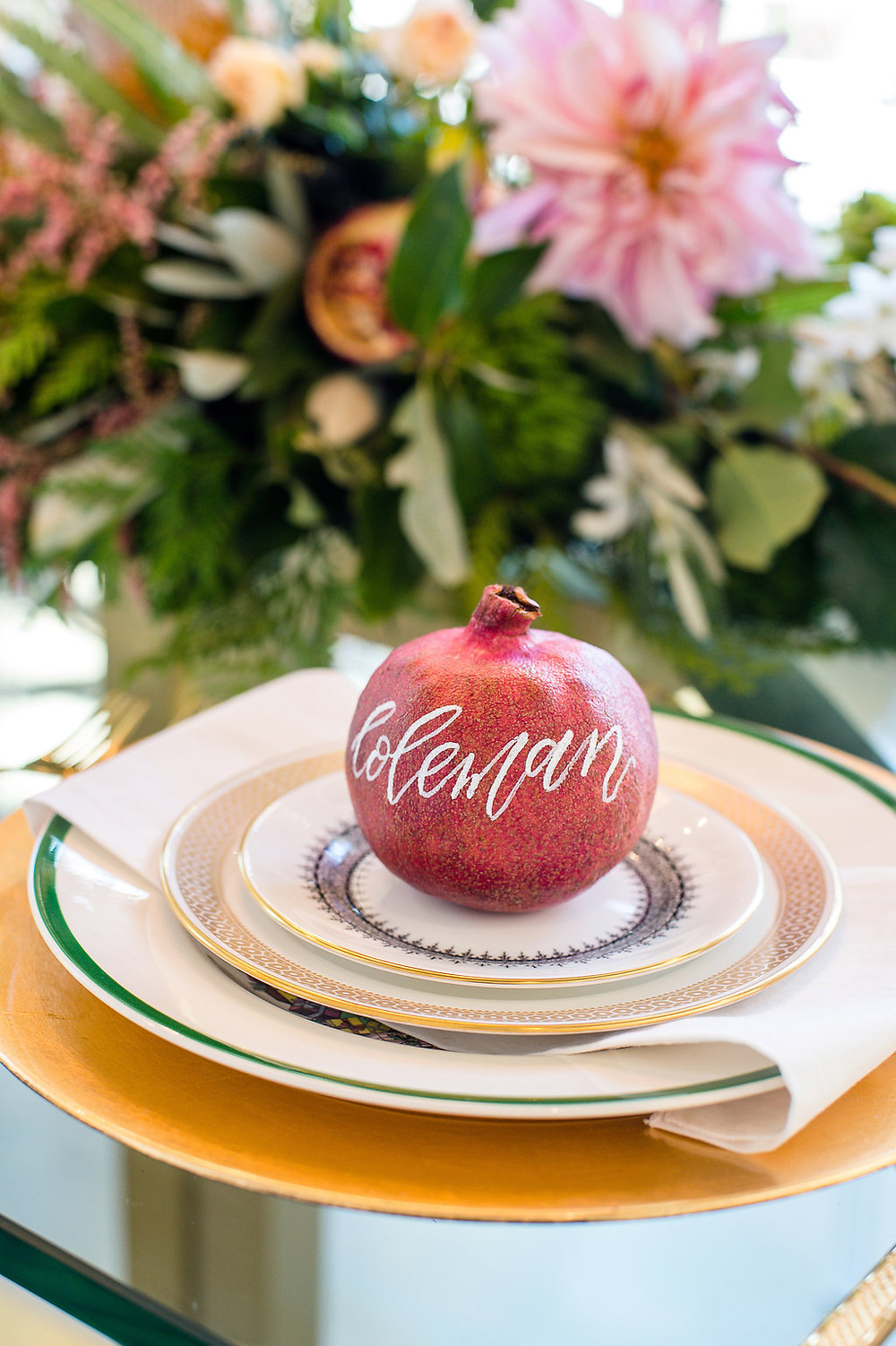 flowers table setting