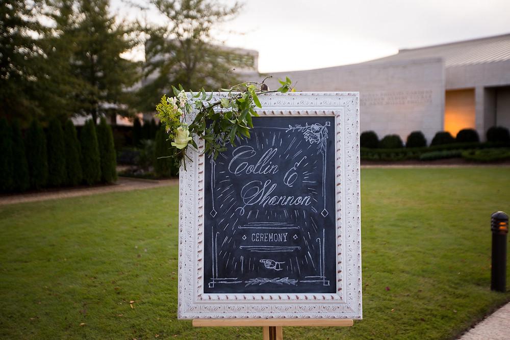 wedding planner signage