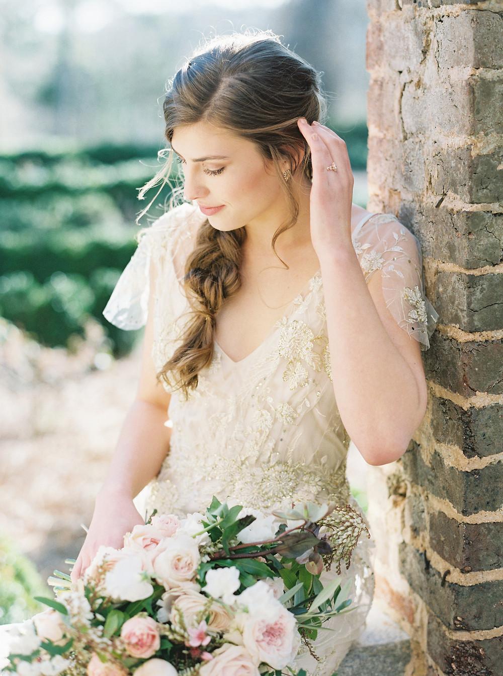 ga wedding planning bride flowers