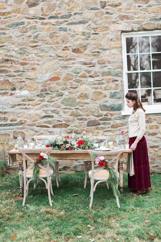 florals table bride al planner