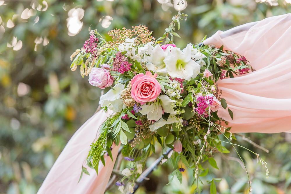 flowers wedding arbor
