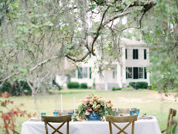 Southern style  at the Elms of Coosada-featured in Florist Review with photos by heart