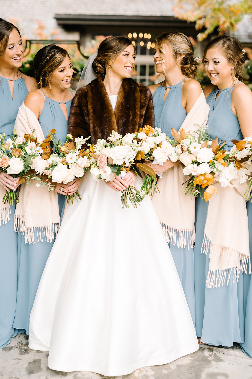 bride and bridesmaids highlands nc wedding