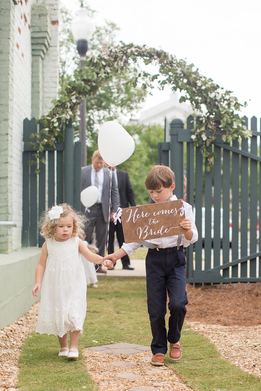 wedding ceremony auburn, al flower girl,