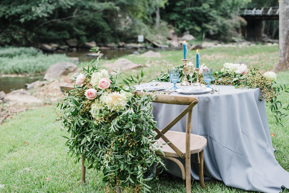 alabama flowers, birmingham wedding table