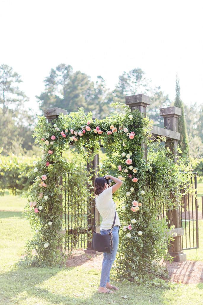 wedding arbor flowers georgia