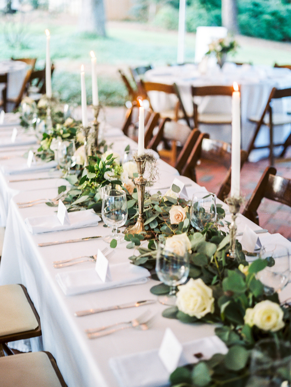 auburn wedding table flowers planning