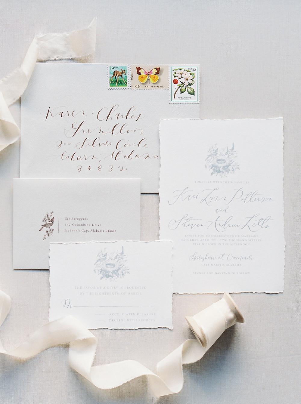 lake martin al wedding invitation, wedding planning