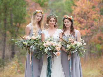 Alabama Wedding Photoshoot Details with Feathers and Flowers-