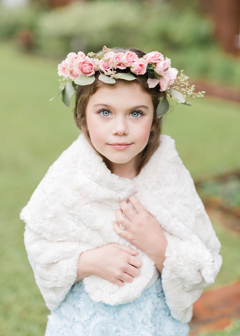 flower girl montgomery wedding