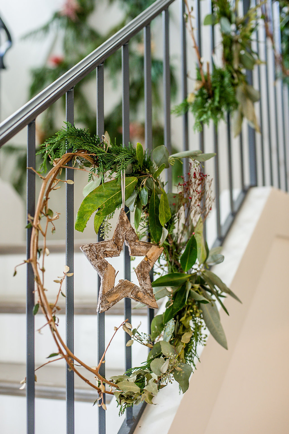 greenery wreathes flowers
