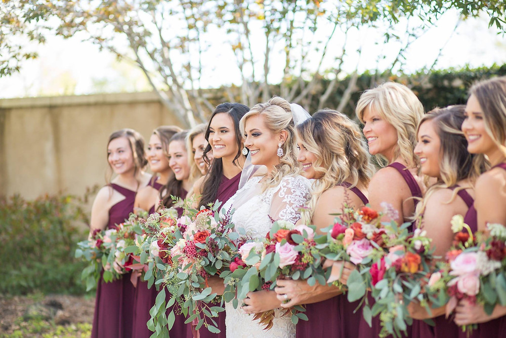 bridal party flowers auburn coordinator planner