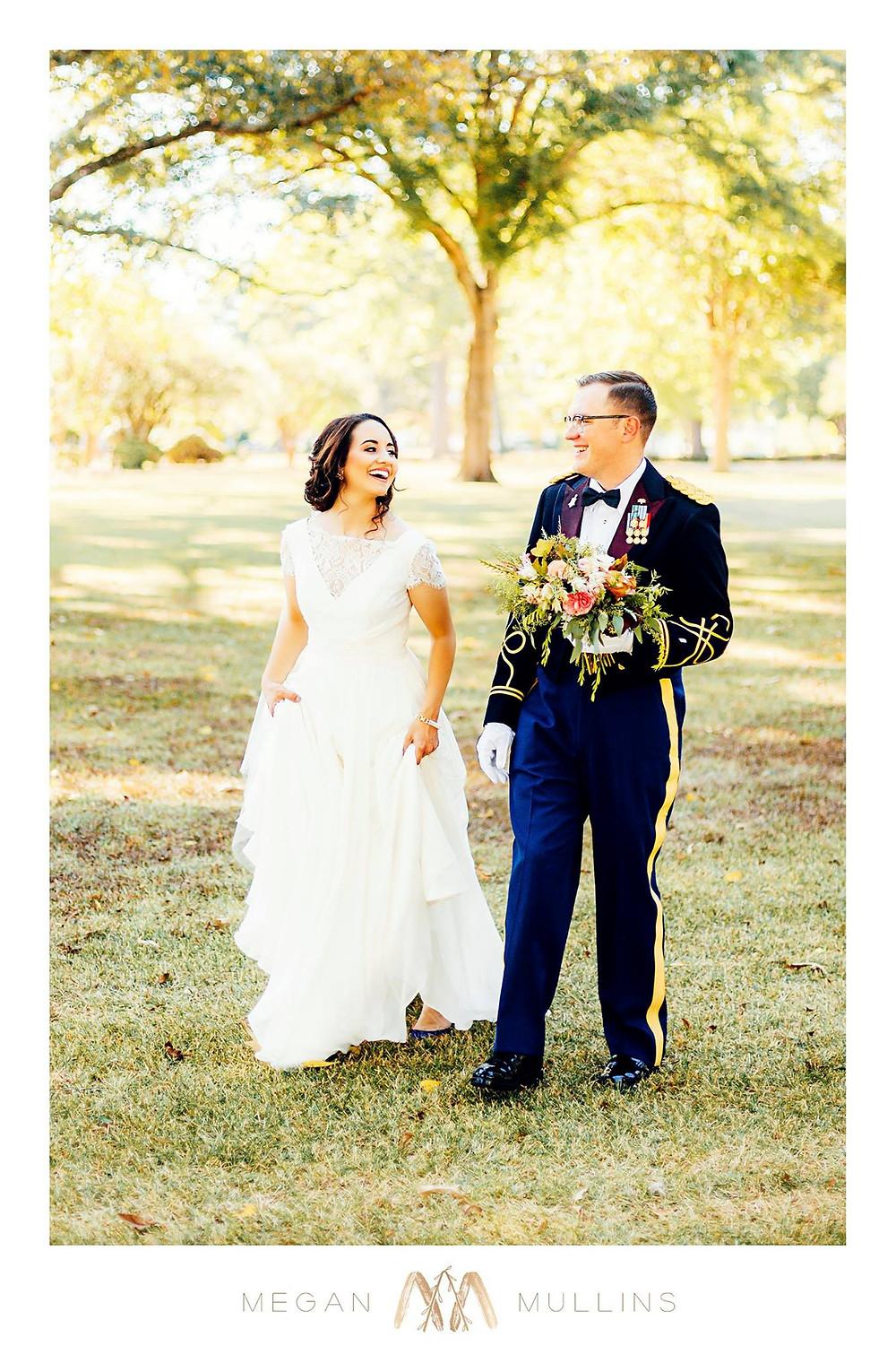bride groom flowers