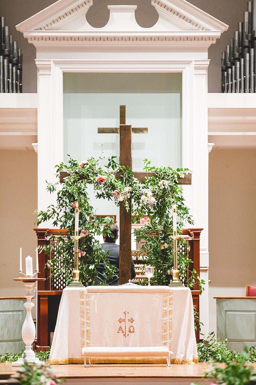 wedding cross flowers al planner