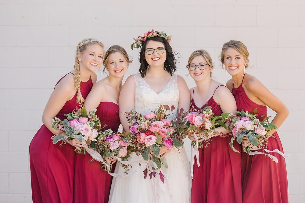 wedding bridesmaids flowers planner