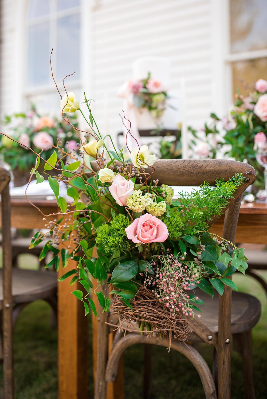 auburn wedding chair flowers planner