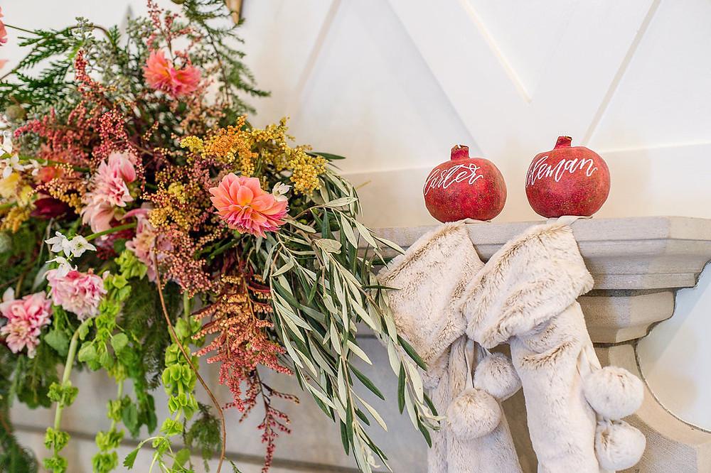 mantel flowers