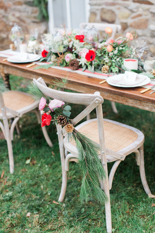 planner table flowers wedding