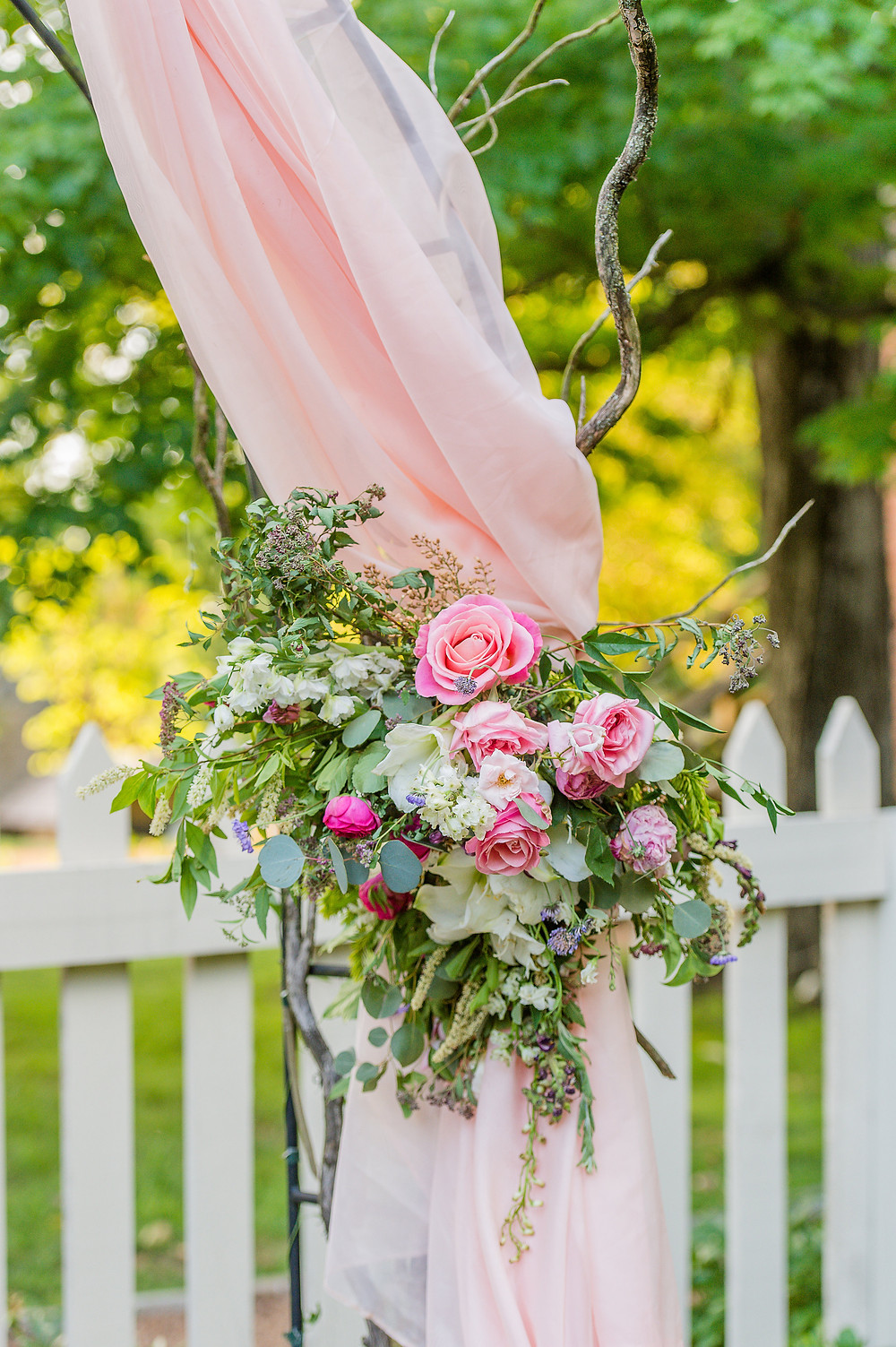 flowers wedding arbor garden