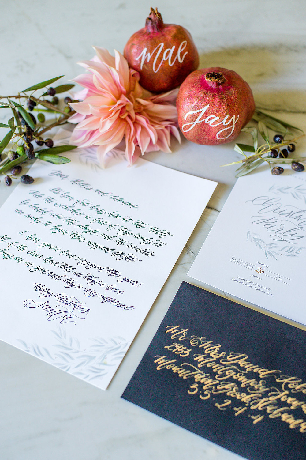 calligraphy holiday decor